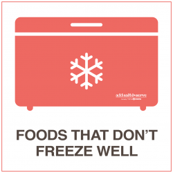 Foods That Don't Freeze Well