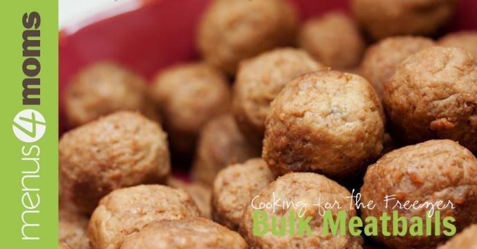 Bulk Meatball Recipe for the Freezer
