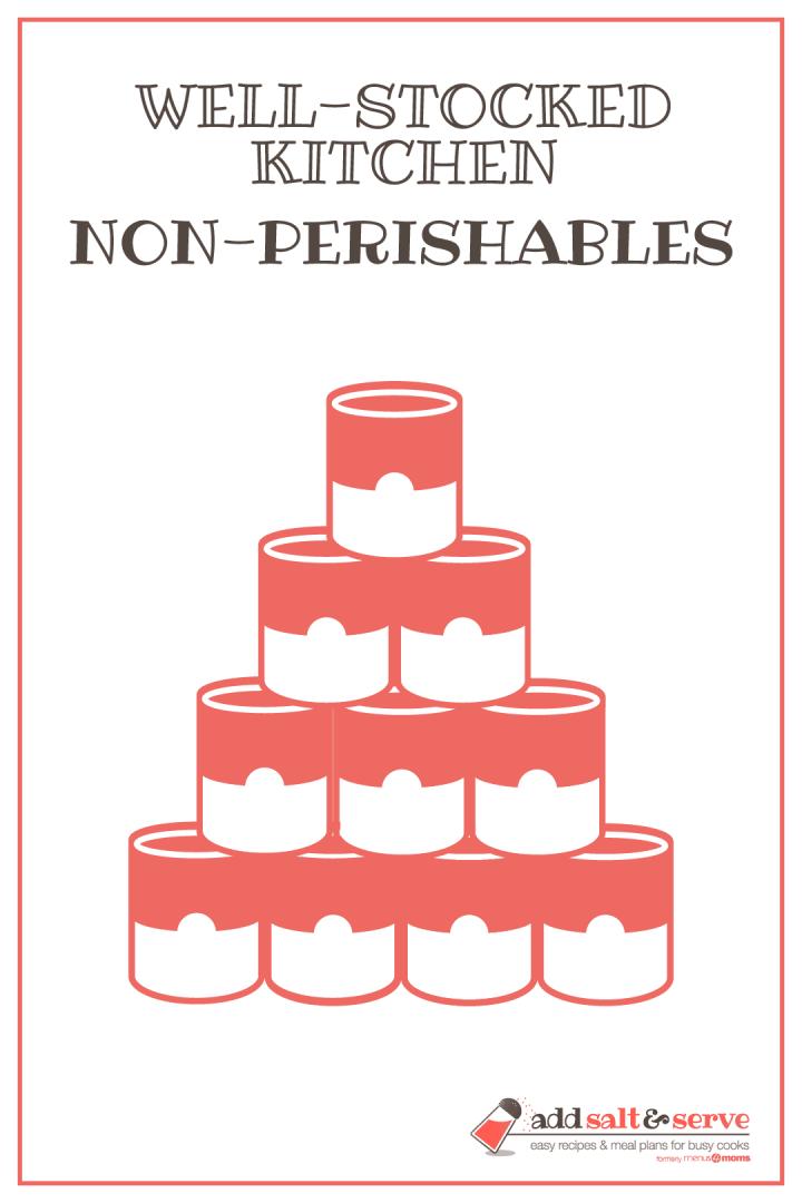 Well-Stocked Kitchen: Non-perishables