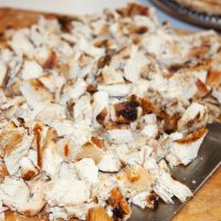 Chopped grilled chicken