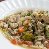 Chicken Vegetable Soup with Barley