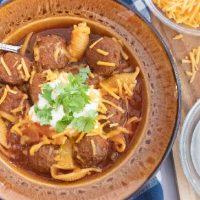 Easy Crockpot Albondigas Soup (Mexican Meatball Soup)