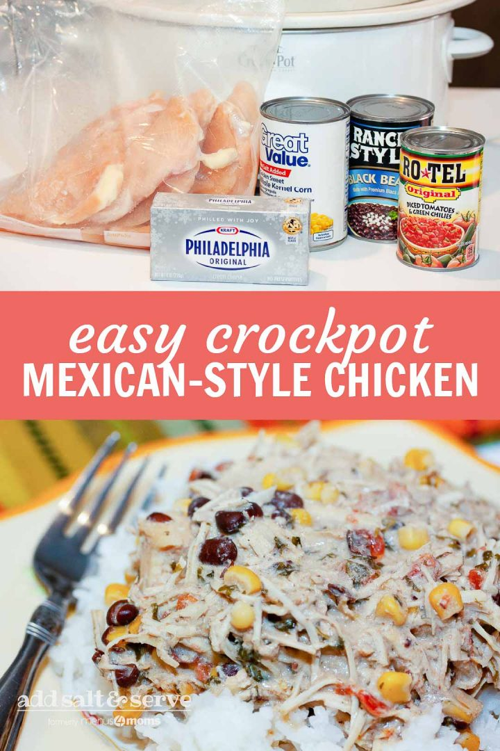 Easy Mexican-Style Crockpot Chicken