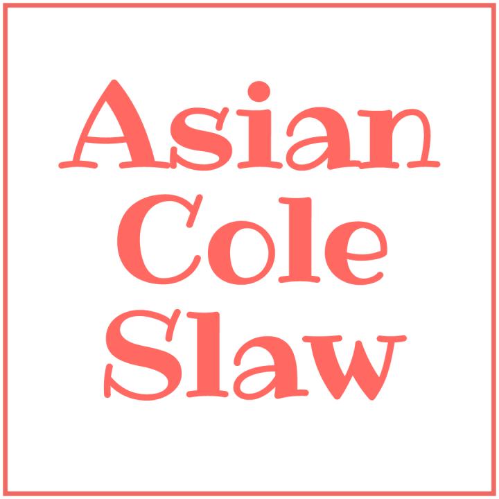 asian cole slaw