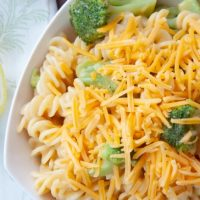Cheddary Spirals with Broccoli