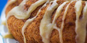Spice Cake with Caramel Glaze