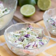 Tex-Mex Cole Slaw and limes