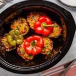 Easy Slow Cooker Southwestern Stuffed Peppers with Cheese