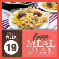 Meal Plan for Week 19 2020: May 4-8