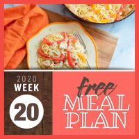 Meal Plan for Week 20 2020: May 11-15