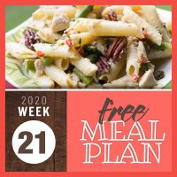 Meal Plan for Week 21 2020: May 18-22