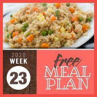 Meal Plan for Week 23 2020: June 1-5