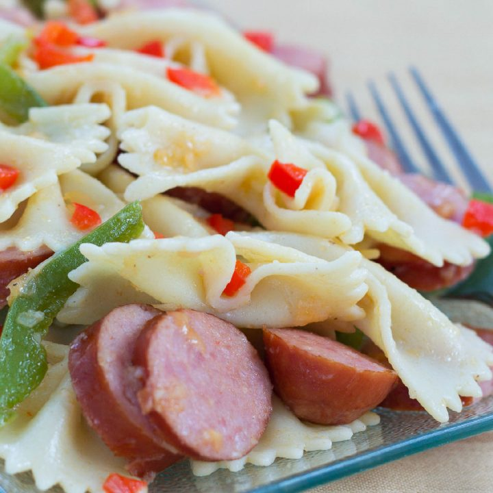20 Minute Kielbasa Pepper Pasta