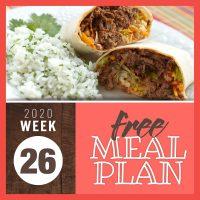 Meal Plan for Week 26 2020: June 22-26