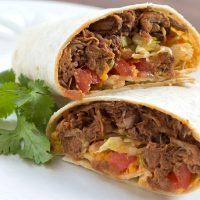 Seasoned Crockpot Beef Burritos