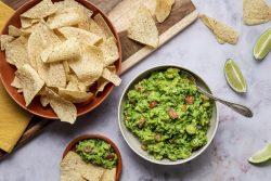 easy homemade guacamole in a bowl