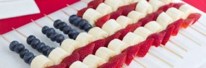 Menus4Moms: American Flag Fruit Kabobs