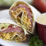 Menus4Moms: Ham and Cheese Wraps with Honey Mustard Sauce
