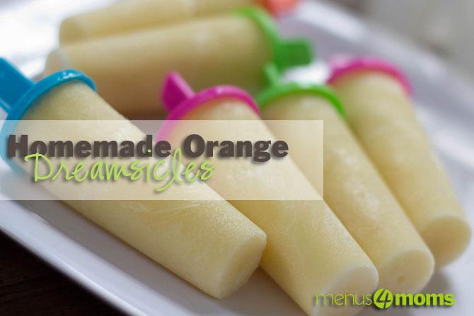 Homemade Orange Dreamsicles