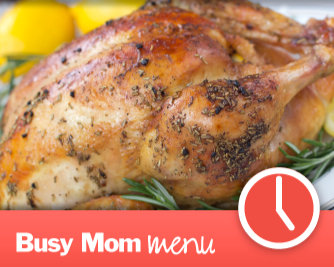 Save time and money with Busy Mom dinner menu plans