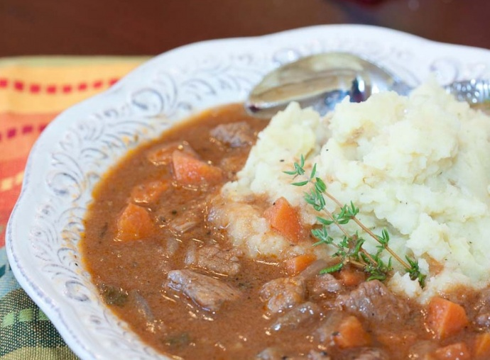 Beef and Guinness® Stew - Menus4Moms