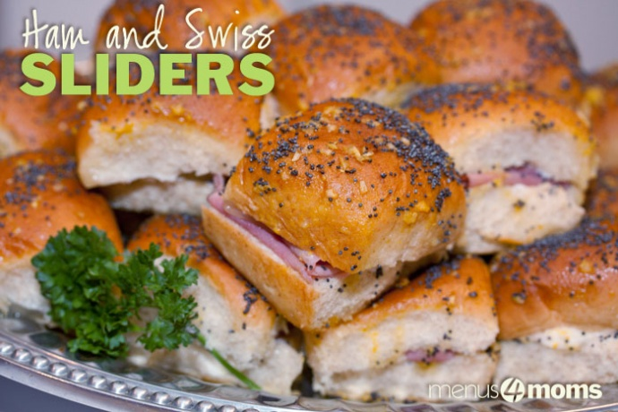 Menus4Moms: What to make with leftover ham - Ham and Swiss Sliders