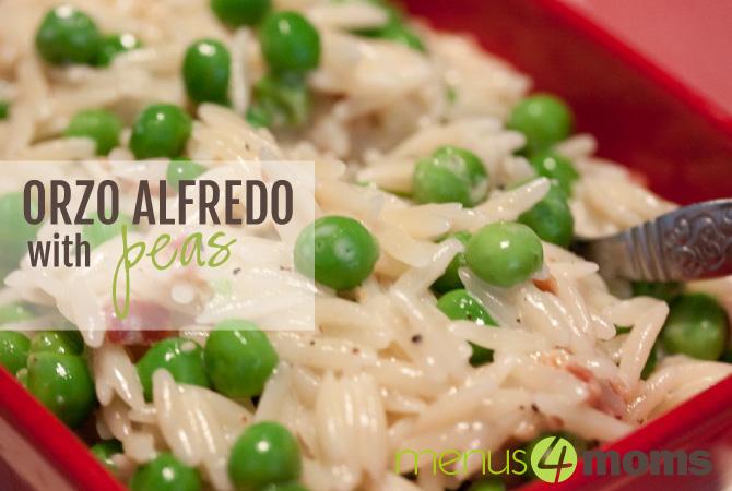 Orzo Alfredo with Peas Recipe